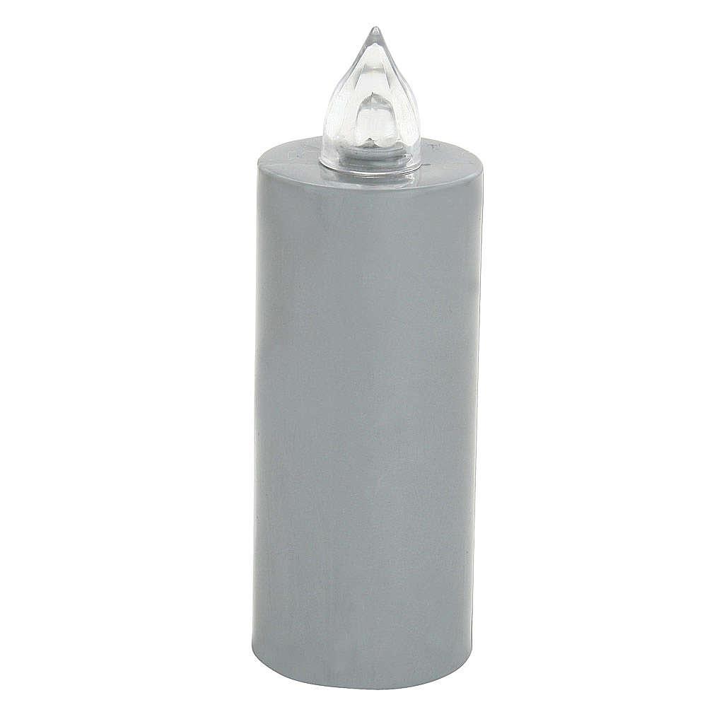 Candela votiva Lumada usa e getta grigio  luce interm. batteria 3