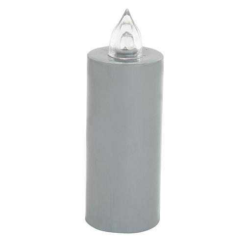 Candela votiva Lumada usa e getta grigio  luce interm. batteria 1