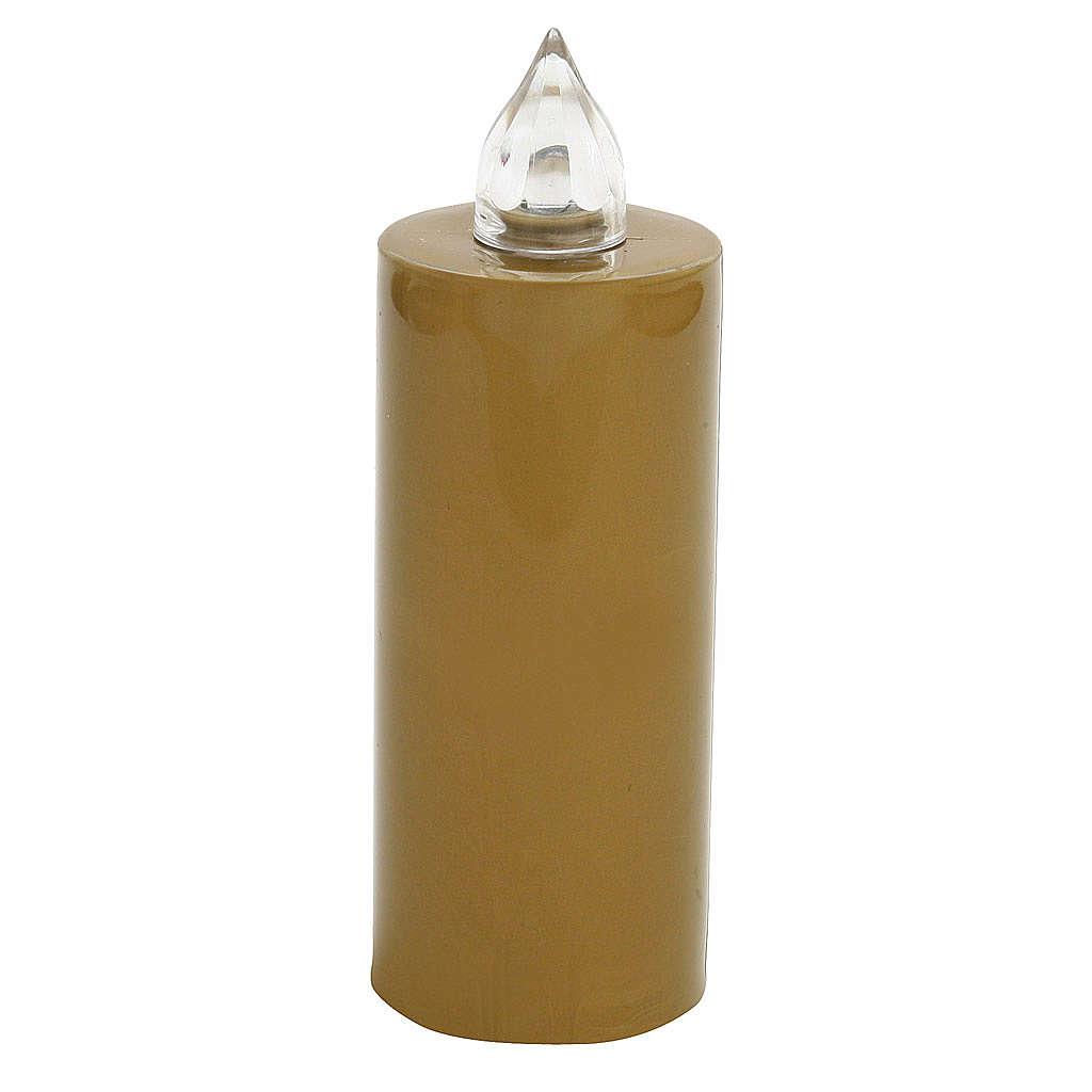 Vela votiva Lumada desechable dorada luz parpadeante 3