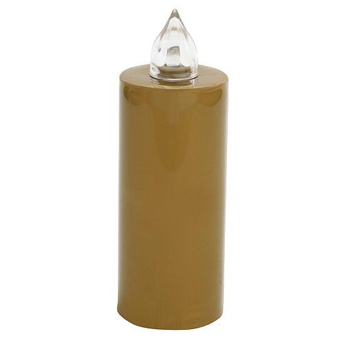 Candela votiva Lumada usa e getta oro luce interm. con batteria 1