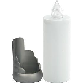 Veilleuse électrique blanche Lumada jetable support, clignotante s1