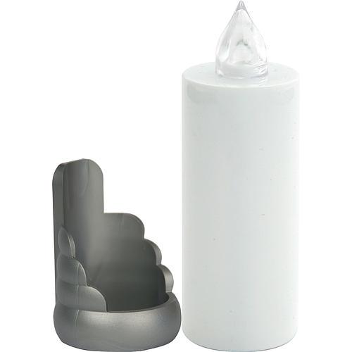 Veilleuse électrique blanche Lumada jetable support, clignotante 1