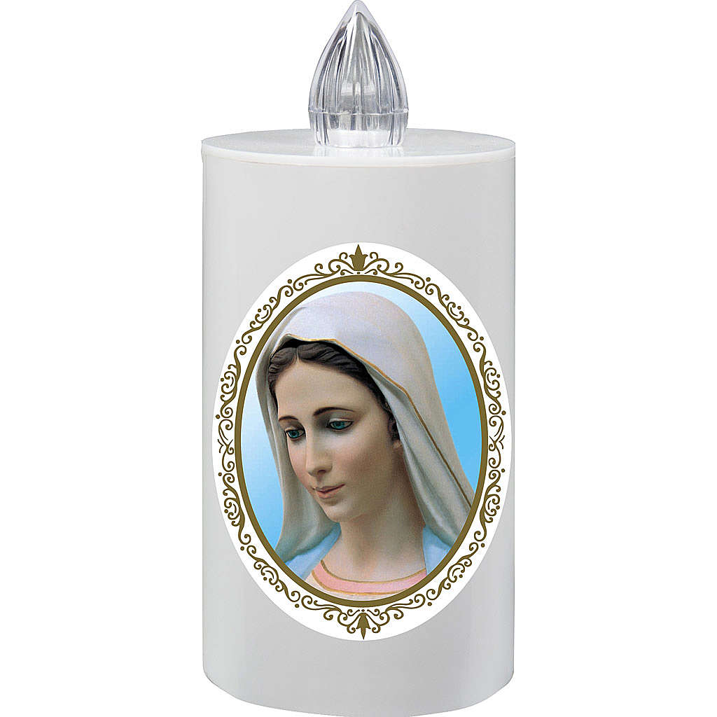 Votive candle Lumada Medjugorje, yellow flickering light 3