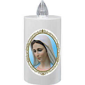Votive candles: Votive candle Lumada Medjugorje, yellow flickering light