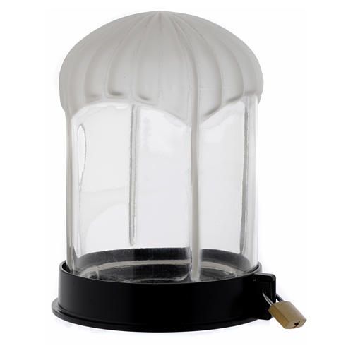 Lanterna cimiteriale nera Lumada per candela 2
