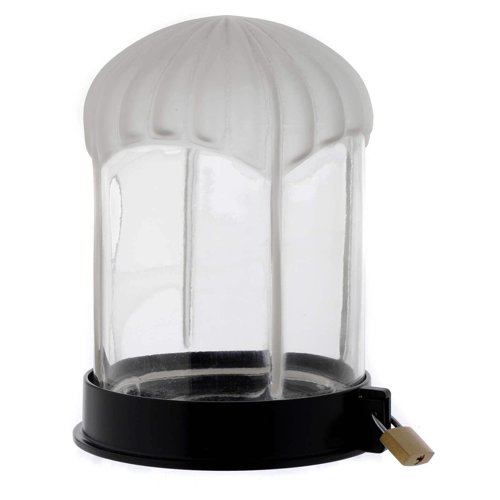 Lampka cmentarna czarna Lumada do świecy elektrycznej 3