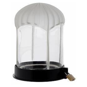 Lampka cmentarna czarna Lumada do świecy elektrycznej s2