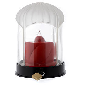 Lampka cmentarna czarna Lumada do świecy elektrycznej s4