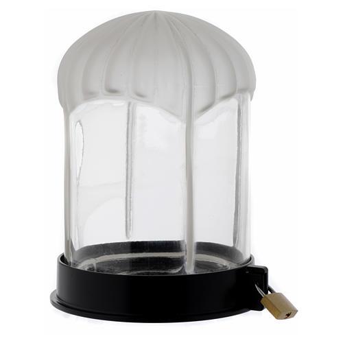 Lampka cmentarna czarna Lumada do świecy elektrycznej 2