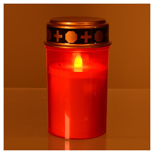 LED votive candle with red flickering light 2