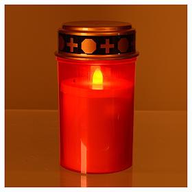 Vela led vermelha luz vermelha trémula s2