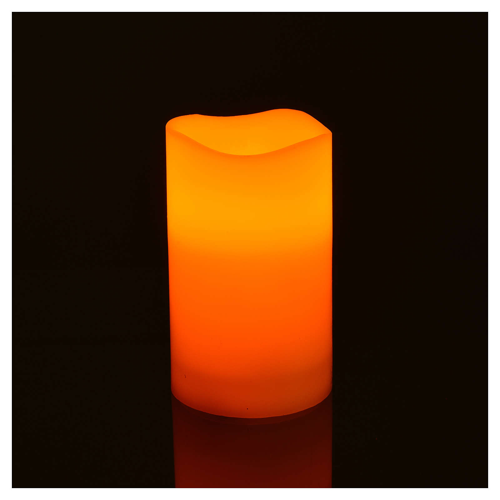 LED candles in real wax, battery powered, 3 pieces 3