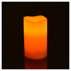 LED candles in real wax, battery powered, 3 pieces s4