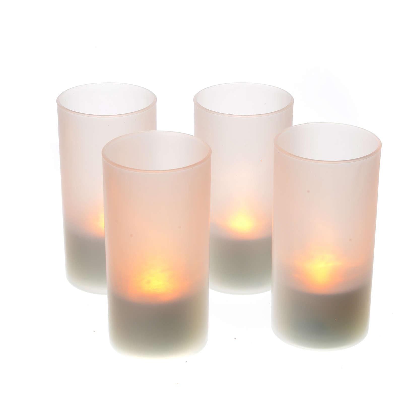 Lumini tealights Led ricaricabili 4 PZ 3