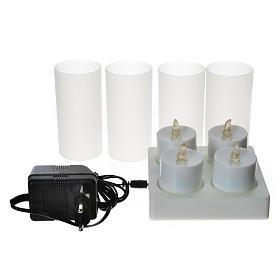Lumini tealights Led ricaricabili 4 PZ s2