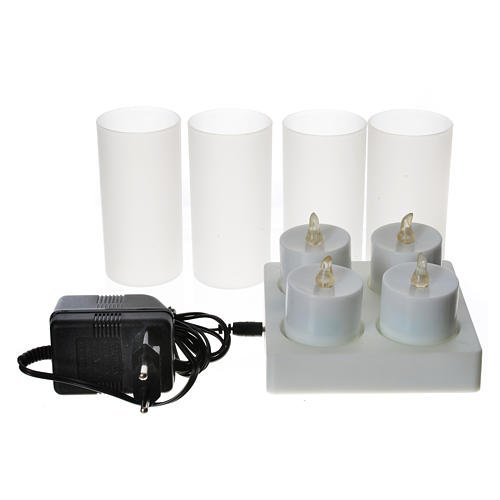 Lumini tealights Led ricaricabili 4 PZ 2
