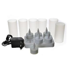 Luces LED tealights recargables 6 piezas s3