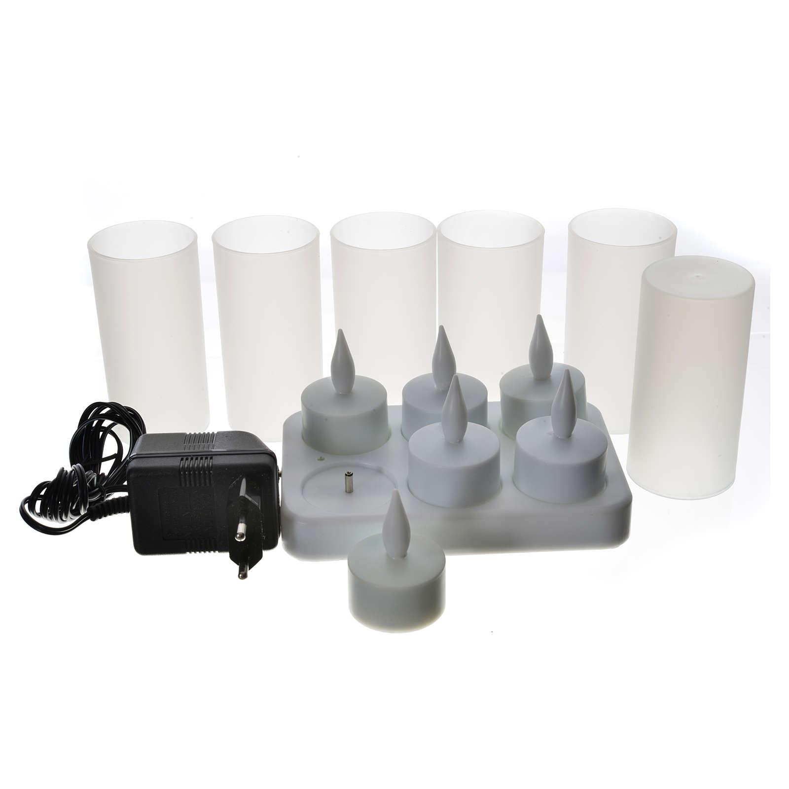 Veilleuses tealights led rechargeables 6pcs 3