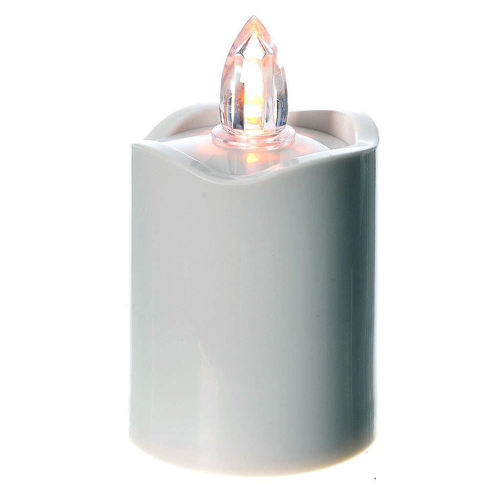 Veilleuse led blanche lumière jaune fixe 3
