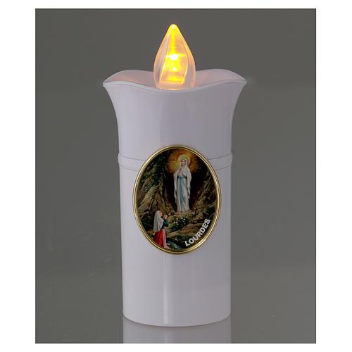 Lumino Lumada immagine Lourdes bianco fiamma gialla tremula 2