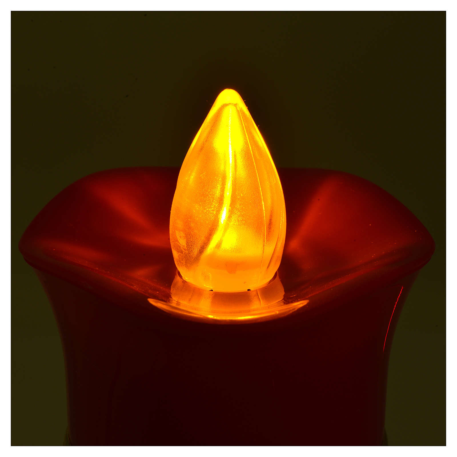 Vela votiva Lumada imagen Jesús blanco luz amarilla parpadeante 3