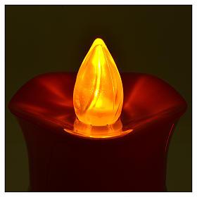 Vela votiva Lumada imagen Jesús blanco luz amarilla parpadeante s4