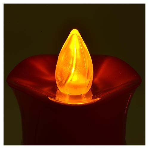 Vela votiva Lumada imagen Jesús blanco luz amarilla parpadeante 4
