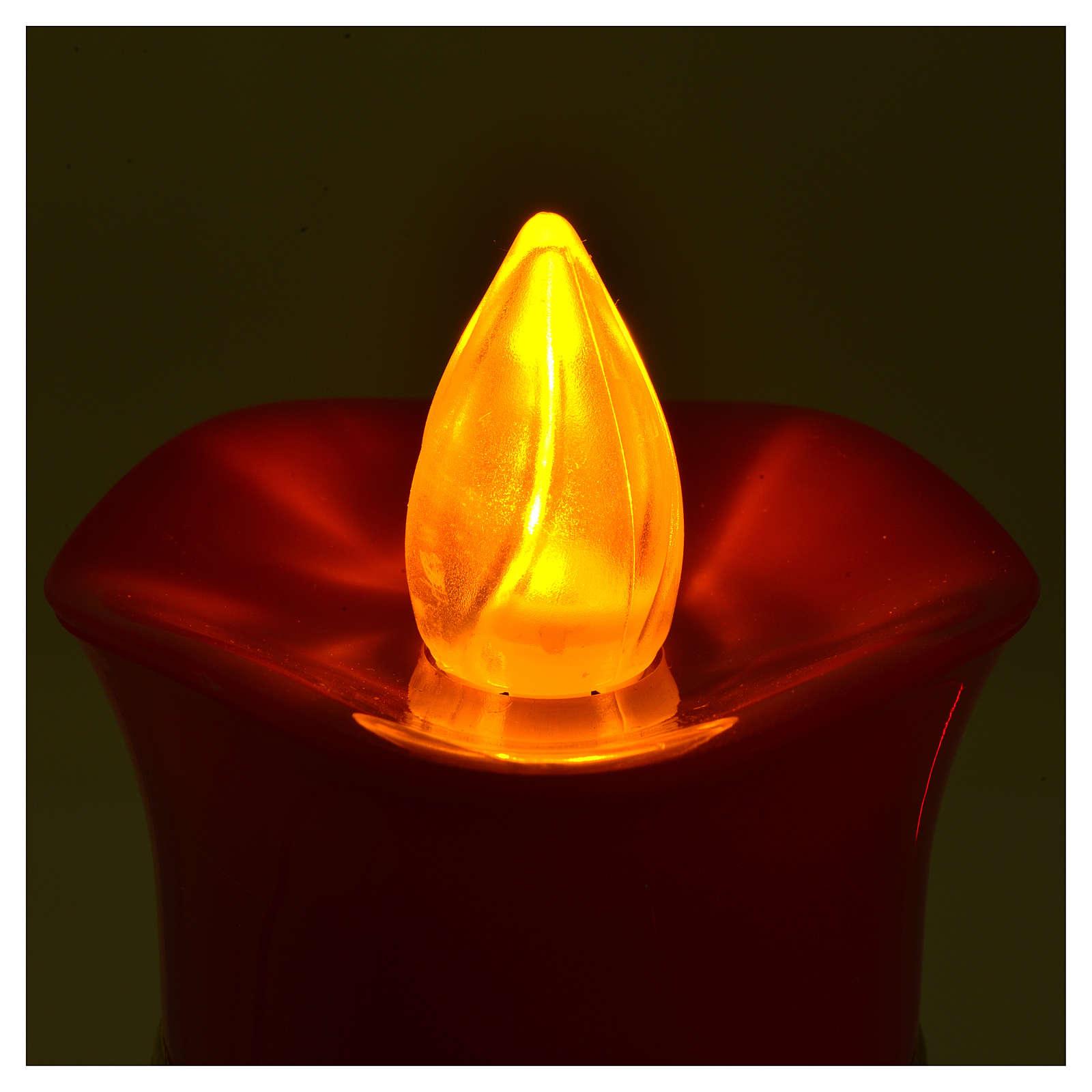 Lumada electric candle, white, image of Jesus with flickering li 3