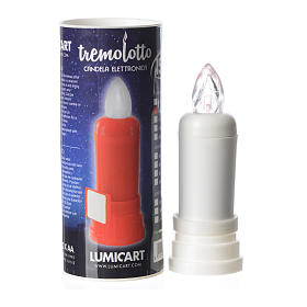 Electric candle white with trembling flame and adhesive s2