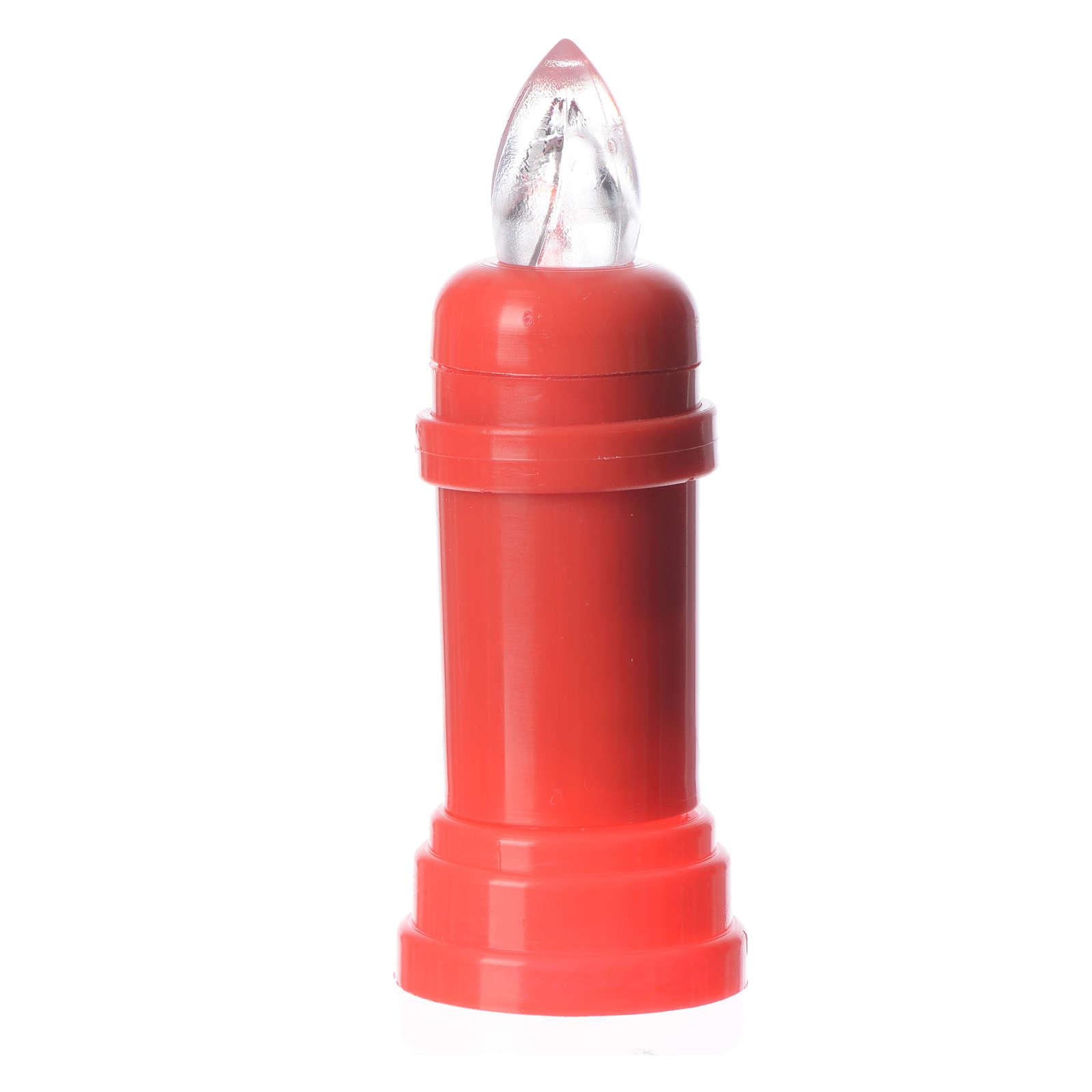 Vela eléctrica roja parpadeante con adhesivo 3