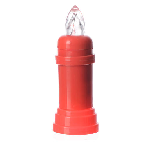 Bougie électrique rouge veilleuse avec adhésif 1