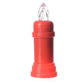 Candela elettrica rossa tremolotto con adesivo s1