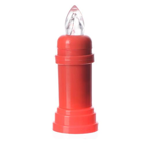 Candela elettrica rossa tremolotto con adesivo 1