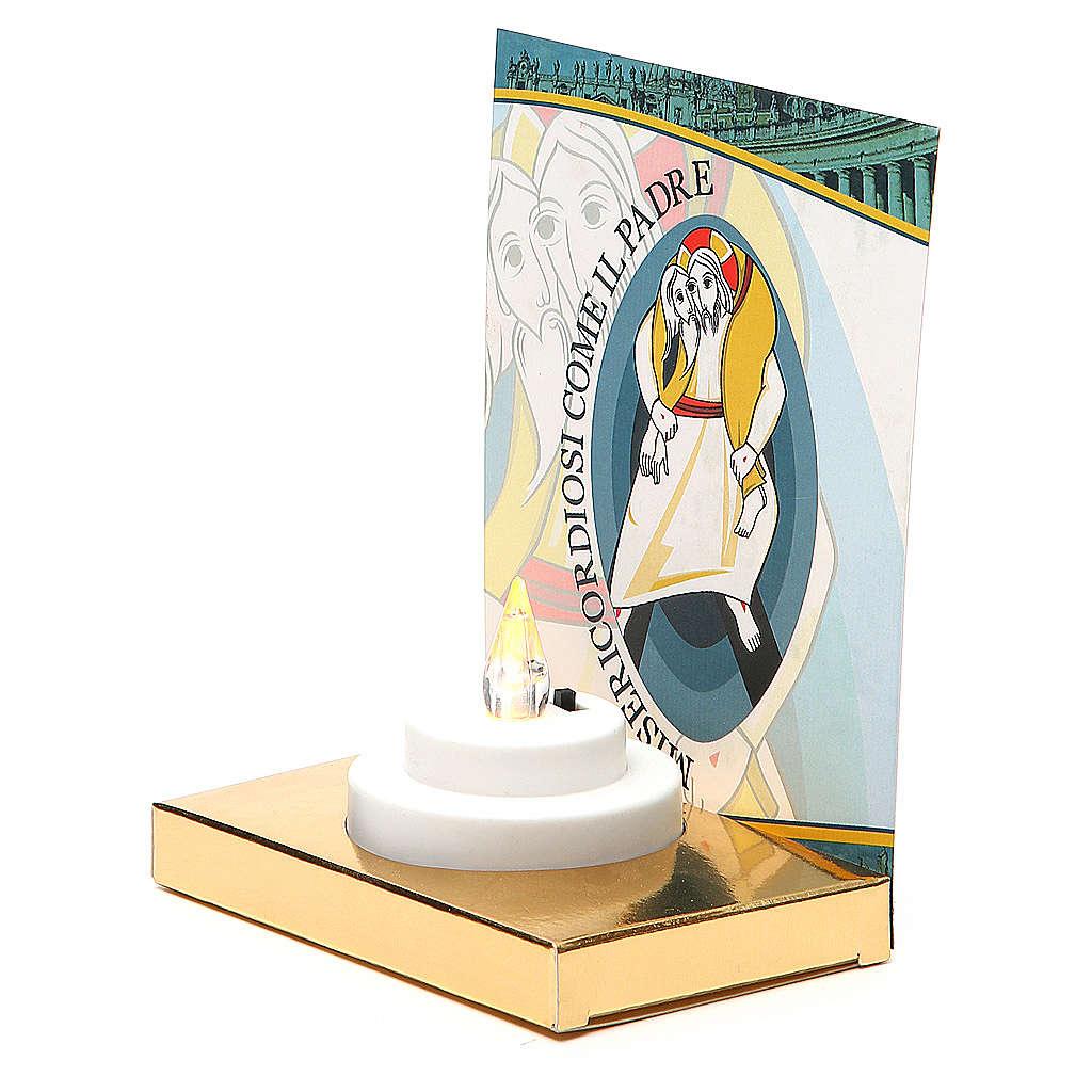 Altarino con lumino elettrico base oro cartone Giubileo 3