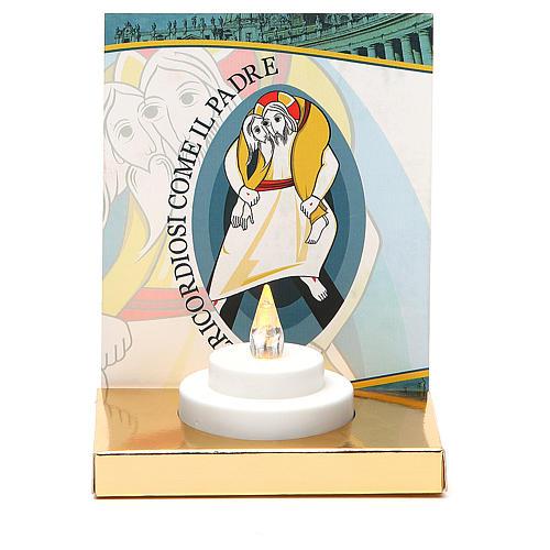 Altarino con lumino elettrico base oro cartone Giubileo 1