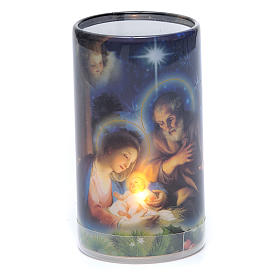 Votive candles: Candle with batteries Christmas image and fake internal candle