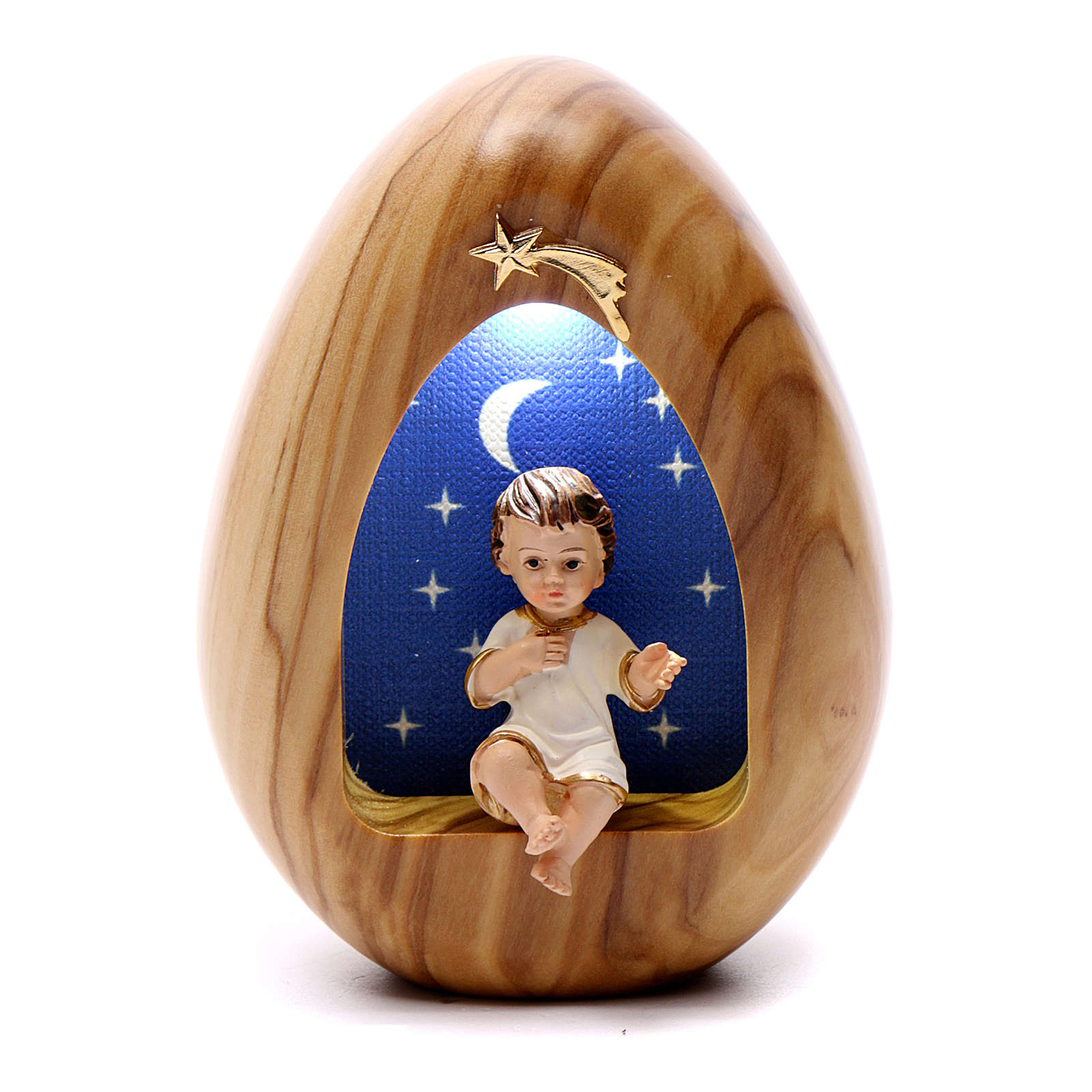 Baby Jesus candle led with BATTERY 11X7 cm 3