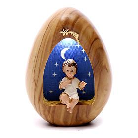 Lumino Bambin Gesù con led BATTERIA 11X7 cm s1