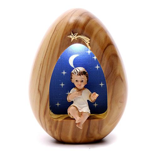 Lumino Bambin Gesù con led BATTERIA 11X7 cm 1