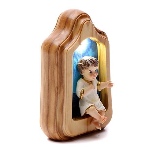 Enfant Jésus avec led et musique PILES 11x7 cm 2