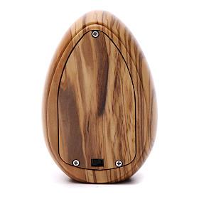 Lamparilla de madera de olivo Lourdes con led 10x7 cm s3