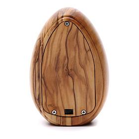 Lumino in legno d'olivo Fatima con led 10X7 cm s3