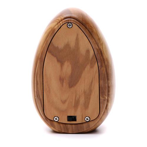 Lumino in legno d'olivo San Benedetto con led 10X7 cm 3