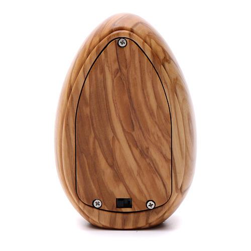 Lumino in legno d'olivo Sant'Antonio con led 10X7 cm 3