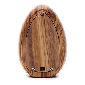 Lamparilla de madera de olivo Jesús Misericordioso con led 10x7 cm s3