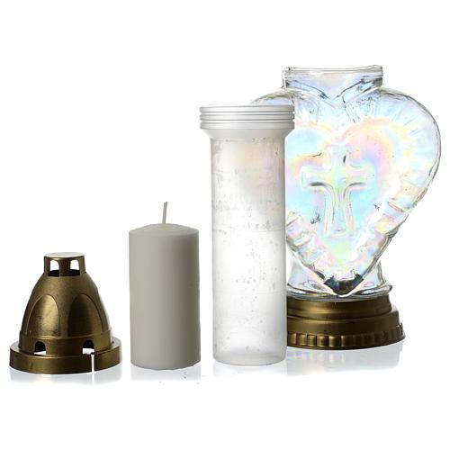 Heart shaped votive candle holder 4