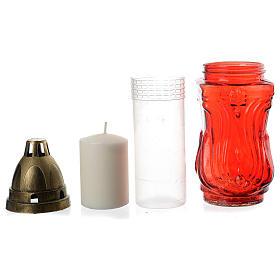 Porta-vela duas velas votivas vermelhas e Anjo s3