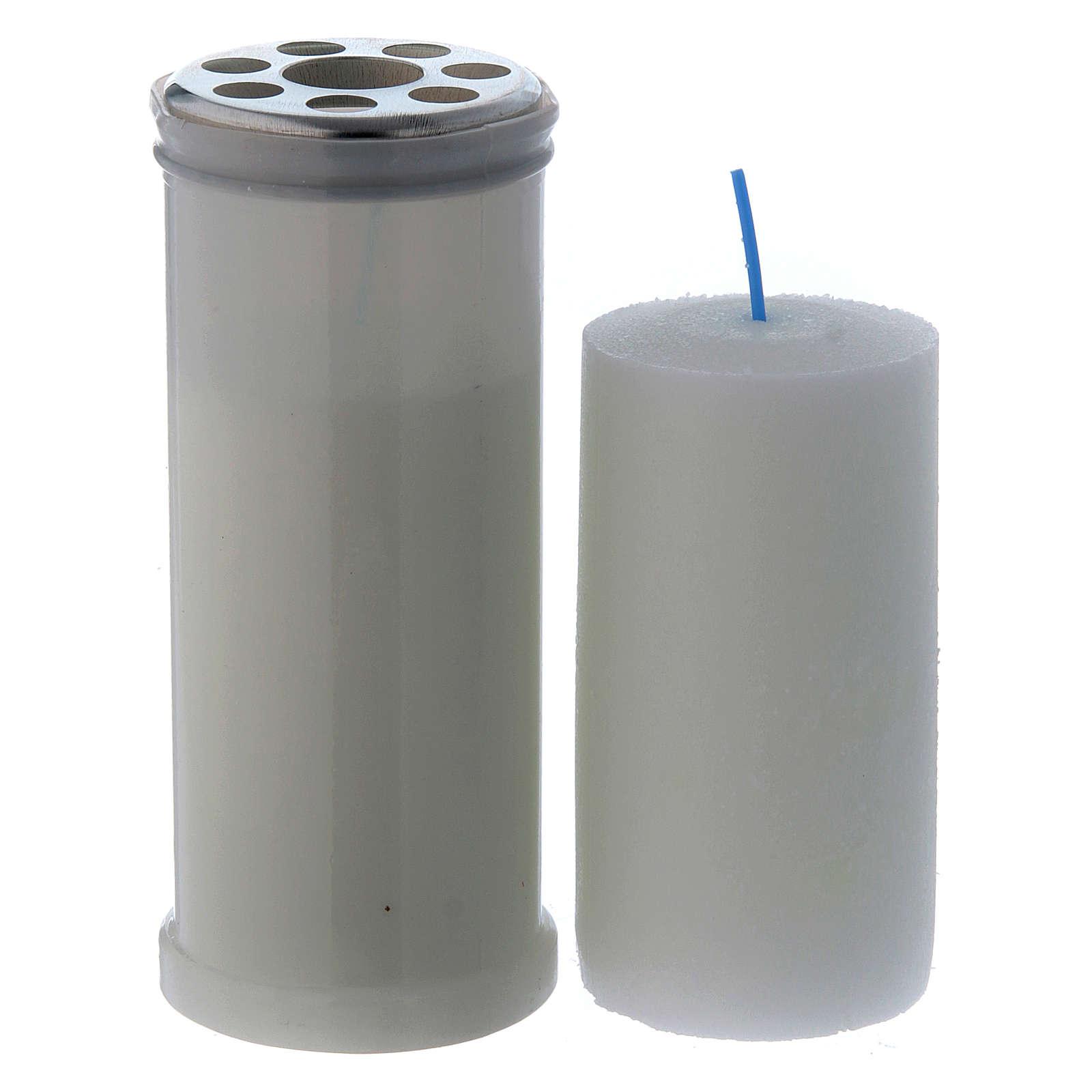 Lampe votive blanche T40 avec cire blanche 3