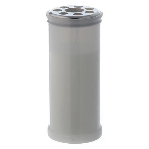 Lampe votive blanche T40 avec cire blanche 1