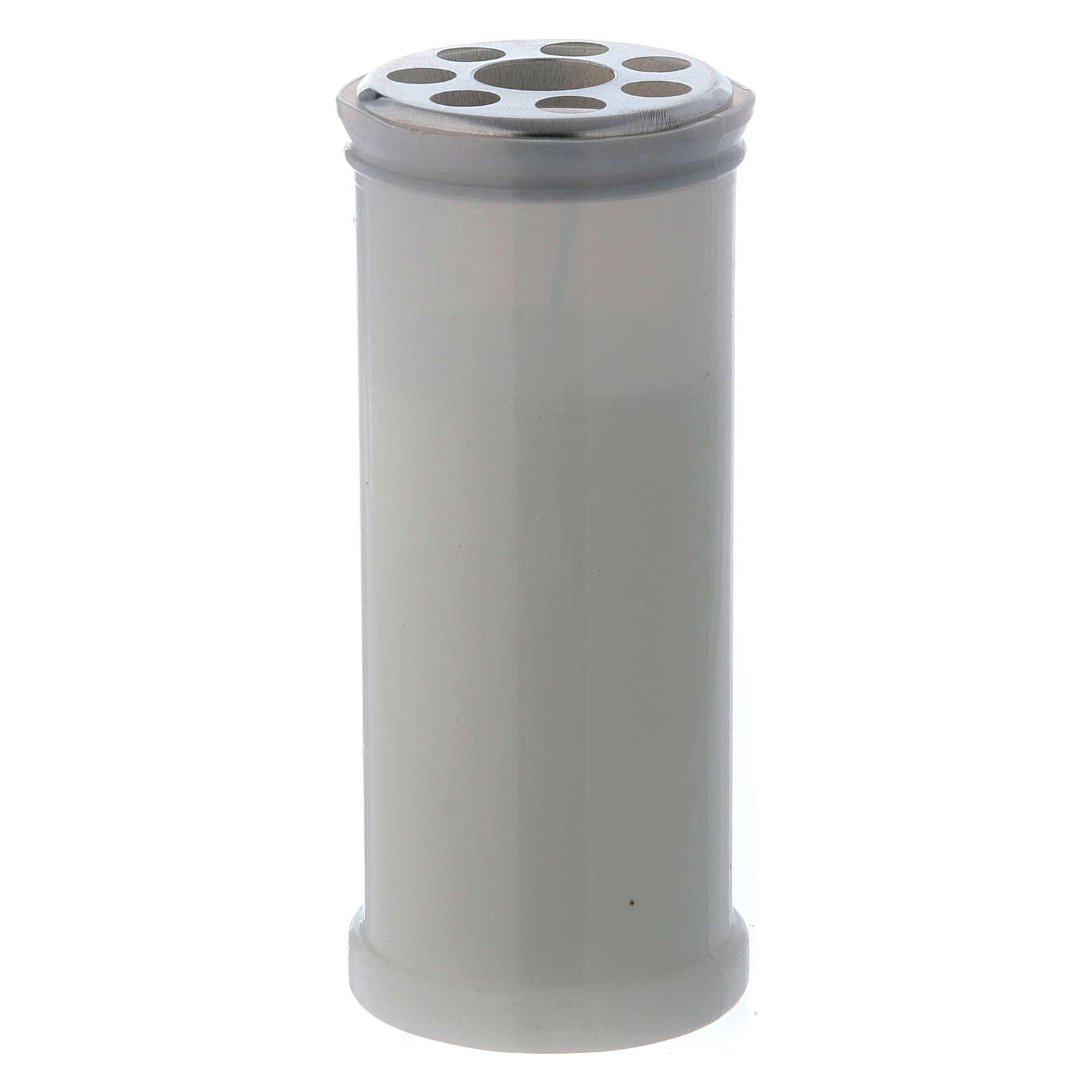 Lumino votivo bianco T40 con cera bianca 3